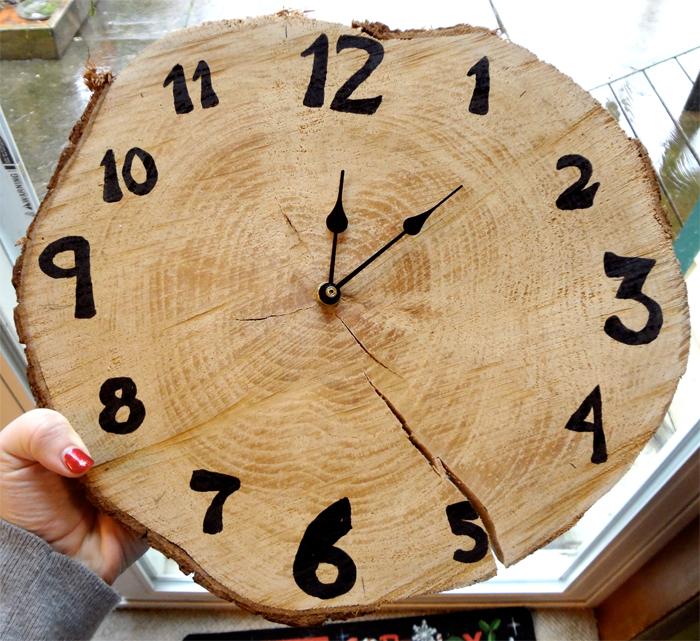 Как сделать своими руками часы настенные